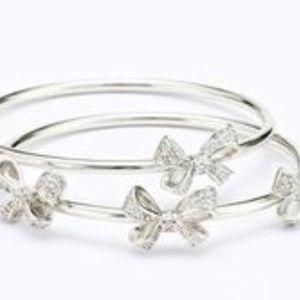 Ann Taylor Silver Bow Bracelets